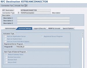 SM59 Registration Configuration