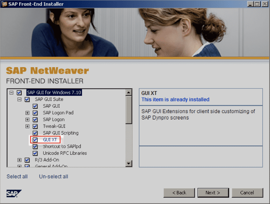 SAP Netweaver Front-End Installer