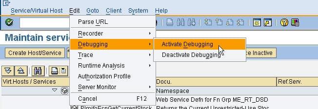 Debug ABAP Web Service 03