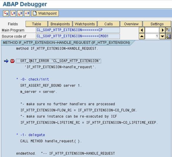 Debug ABAP Web Service 06