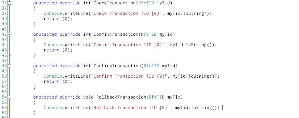 IDOC Flow Control Methods