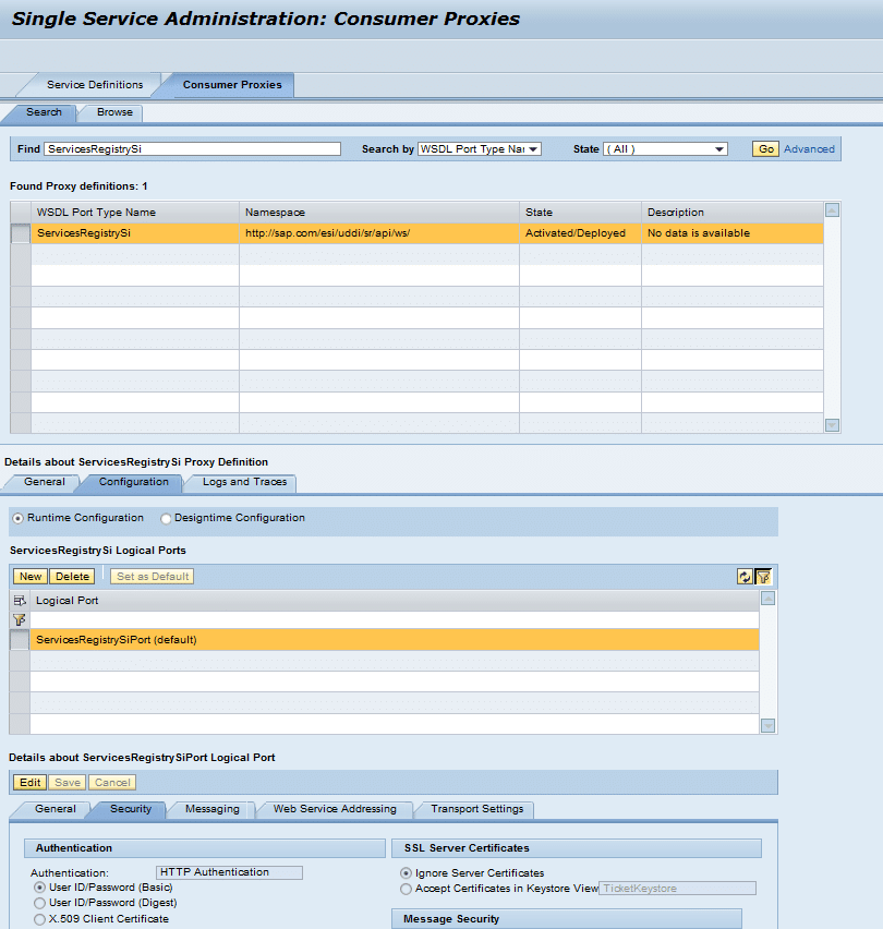 Troubleshooting the services registry dataxstream for Service registry