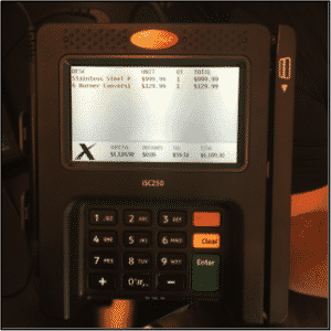 OMS+, POS, credit card device, app display, SAP, SAP Retail,
