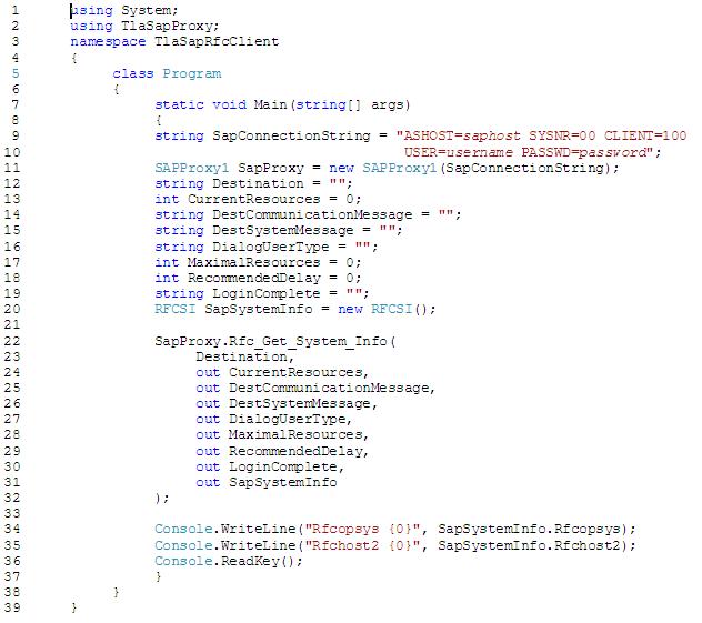 C# program listing