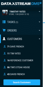 OMS+ Last 5 Customers, SAP Transaction History
