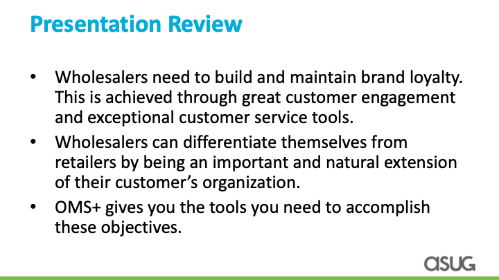 Wholesale needs to build brand loyalty, differentiate themselves, OMS+ is the tool you need