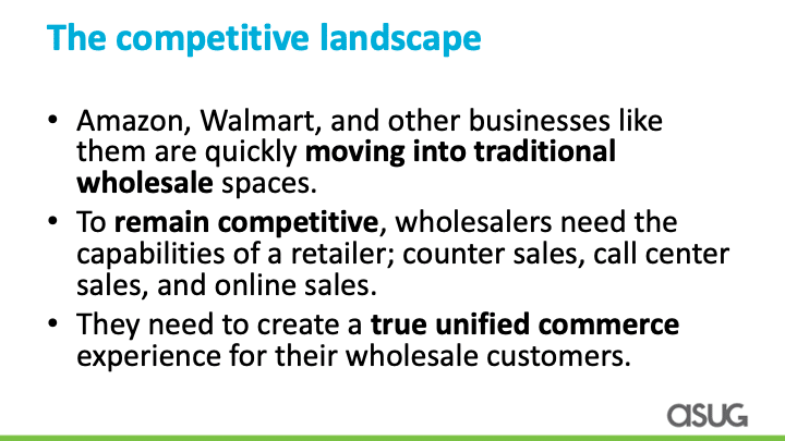 competitive landscape for wholesale and distribution